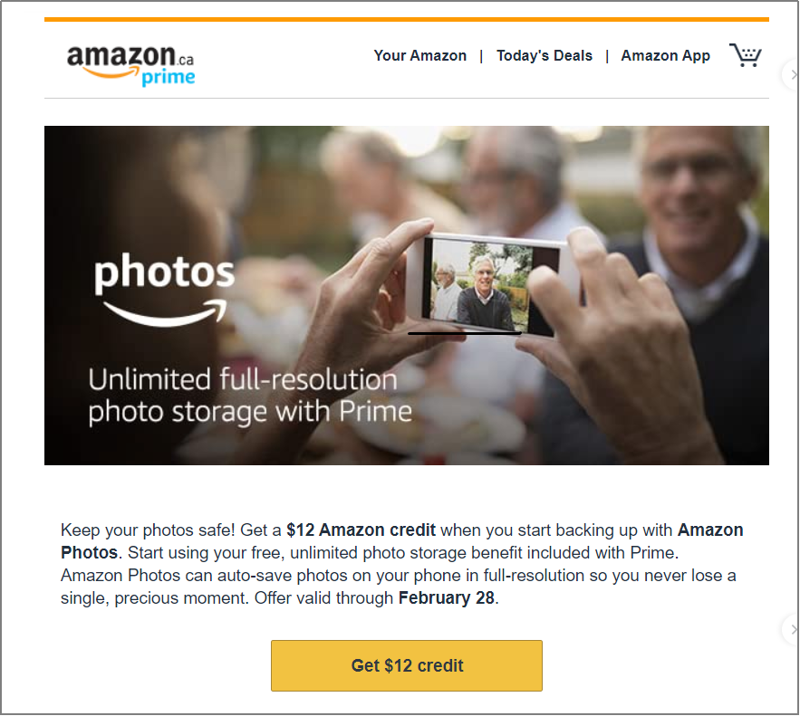 Amazon photo storage product